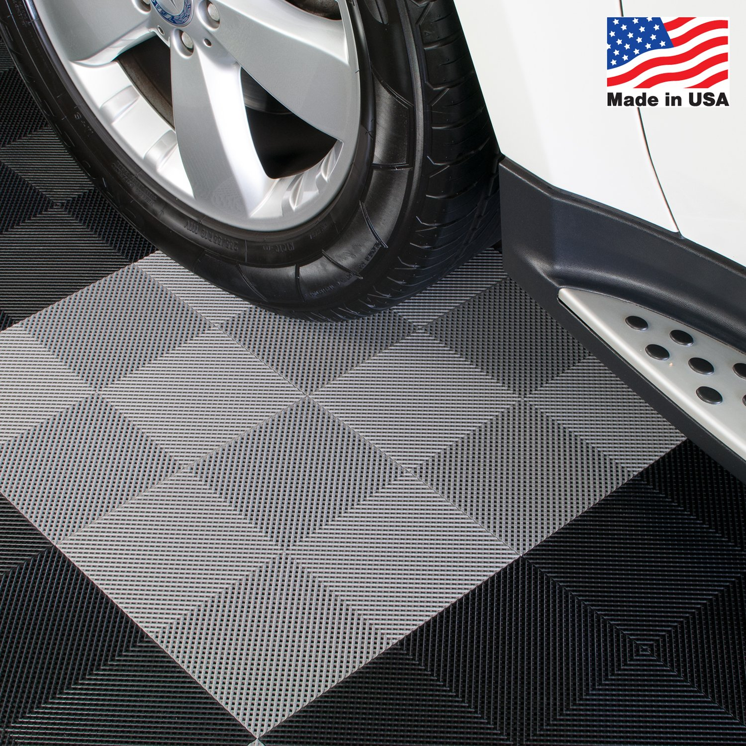 BlockTile B2US4630 Deck and Patio Flooring Interlocking Tiles Perforated Pack, Gray, 30-Pack by BlockTile