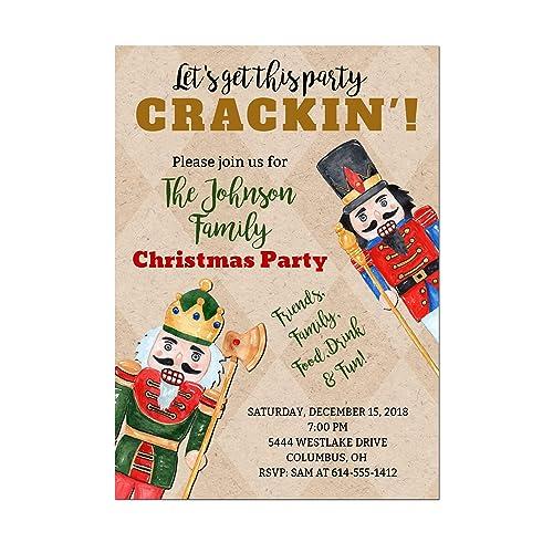 Amazon Funny Nutcracker Christmas Party Invitation Base Price