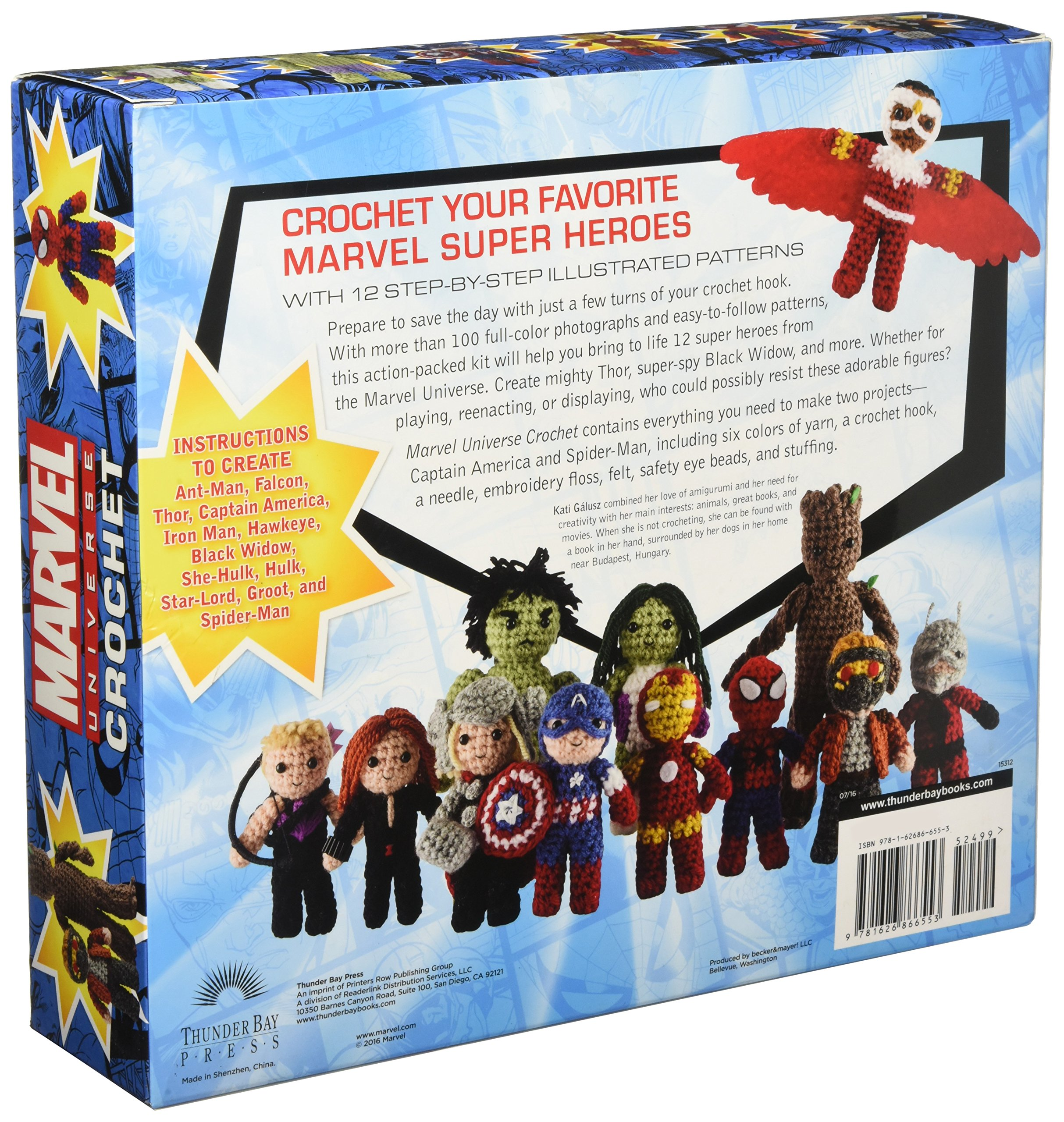 Marvel Universe Crochet Kati Galusz Amazoncom Books - Superheroes re imagined as if they were sponsored by big brands