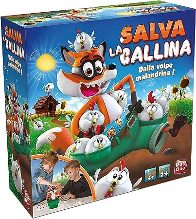 Macdue Salva La Gallina Juego clásico niño de Mesa Juguete 149, Multicolor, 8001297233470: Amazon.es: Juguetes y juegos