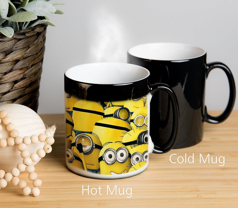 Tasse changeante de couleur tasse de th/é Tasse de caf/é Despicable Me Minions Mug Limage appara/ît lorsque la tasse est chaude tasse de th/é
