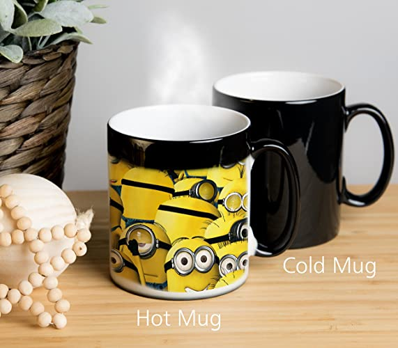 despicable me minion magical colour changing mug other side shows song as old as rhyme ideal as tea mug coffee mug tea cup coffee cup hot chocolate - Minion Christmas Song