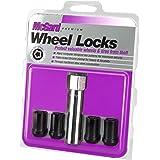 McGard 25357 Tuner Style Cone Seat Wheel Locks Black (M12 x 1.5 Thread Size) - Set of 4, 4 Locks / 1 Key