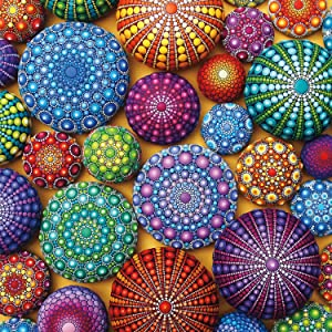Buffalo Games - Mandala Stones - 300 LARGE Piece Jigsaw Puzzle