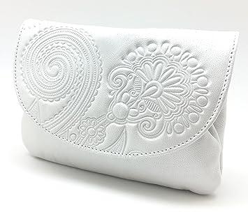 Cartera Portamonedas Monedero para Mujer Marca: Lugupell - Color: Blanco Semi Brillo (12,5 x 9 cm): Amazon.es: Equipaje
