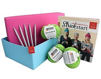 Perfektes Geschenk für Strickanfänger und Strickfans! Geschenkebox