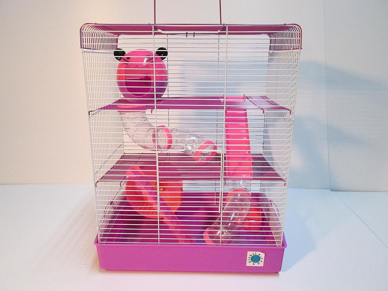 Penthouse - Jaula de hámster grande para animales pequeños, de 2 y ...