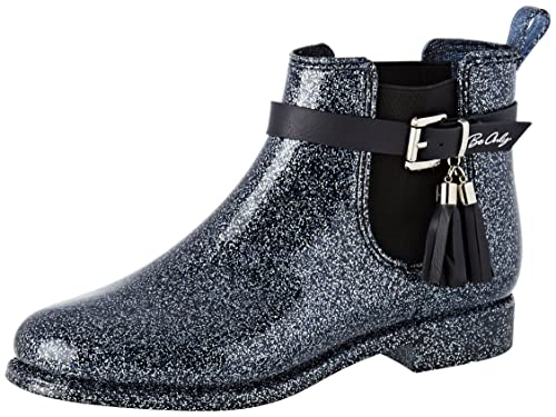 BE ONLY Cristina Glitters Marine - Botines Chelsea Mujer: Amazon.es: Zapatos y complementos