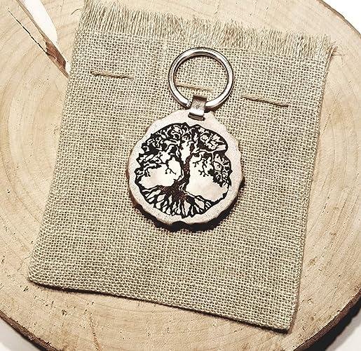 Amazon com: Engraved gift, Tree of life key chain