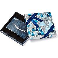 Amazon.de Geschenkkarte in Geschenkbox (Blau und Silber) - mit kostenloser Lieferung per Post