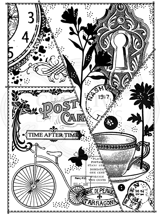 21 x 11 x 0.6 cm Woodware Francoise Collection-Clear Magic-Bicycle Collage