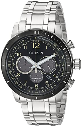 f3a683d15 Citizen Men's 'Chronograph' Quartz Stainless Steel Casual Watch,  Color:Silver-Toned