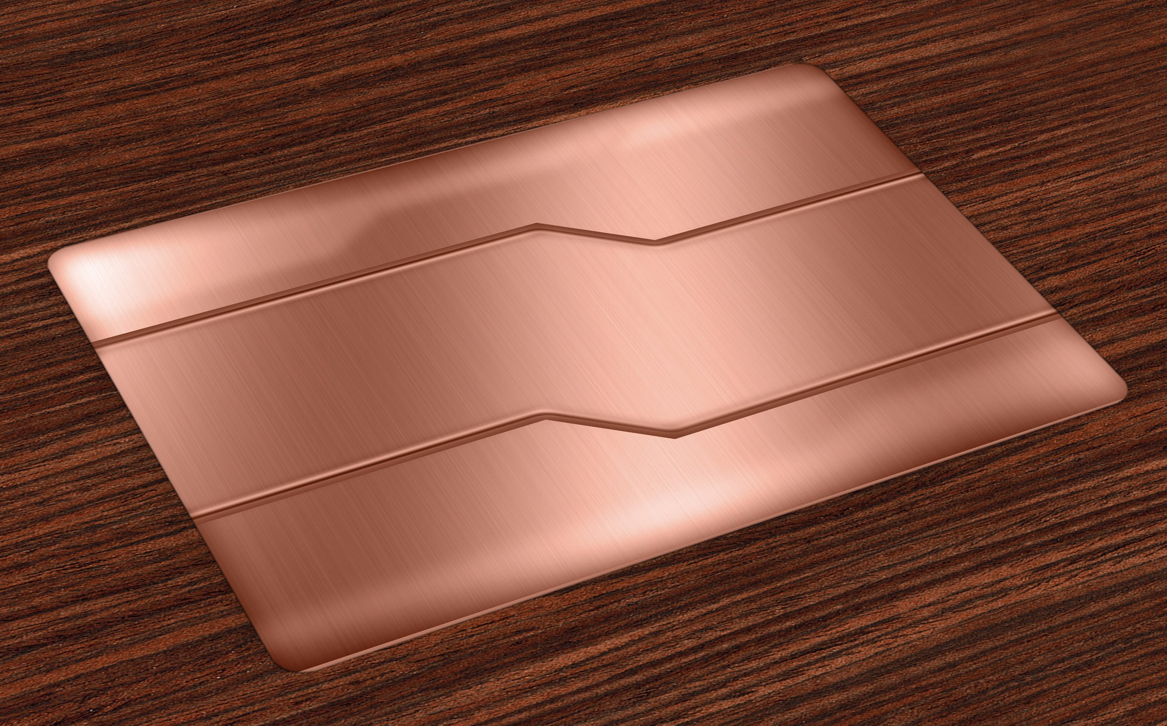 Ambesonne Industrial Place Mats Set of 4, Realistic Looking Steel Surface Print Plate Bar Image Technology Inspired Design, Washable Fabric Placemats for Dining Room Kitchen Table Decor, Rose Gold