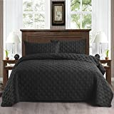 Exclusivo Mezcla 2-Piece Twin Size Quilt Set with Pillow Shams, as Bedspread/Coverlet/Bed Cover(Ellipse Black) - Soft…