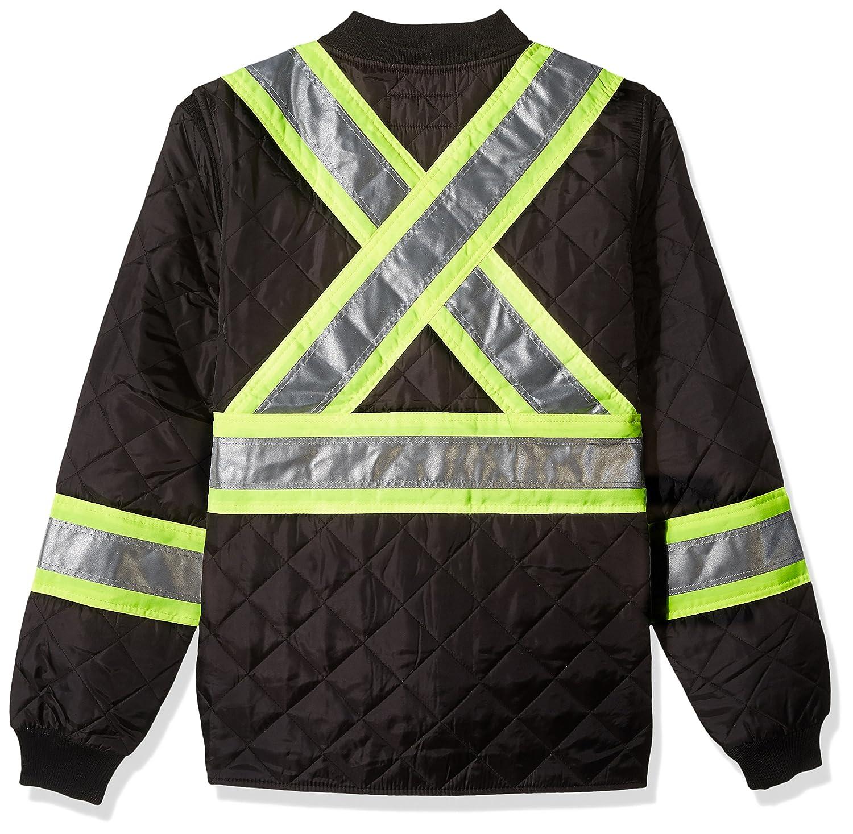 Work King Safety Mens Hi Vis Quilted Safety Jacket Work King Safety Men/'s Work Apparel S43211