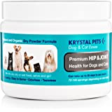 Hip & Joint Bone Pain Relief for Dogs & Cats 100% Natural Ingredients - Boost Strength Vitality, Joints. Easy to Use Powder Formula Just Add to Wet or Dry Food. Made in USA
