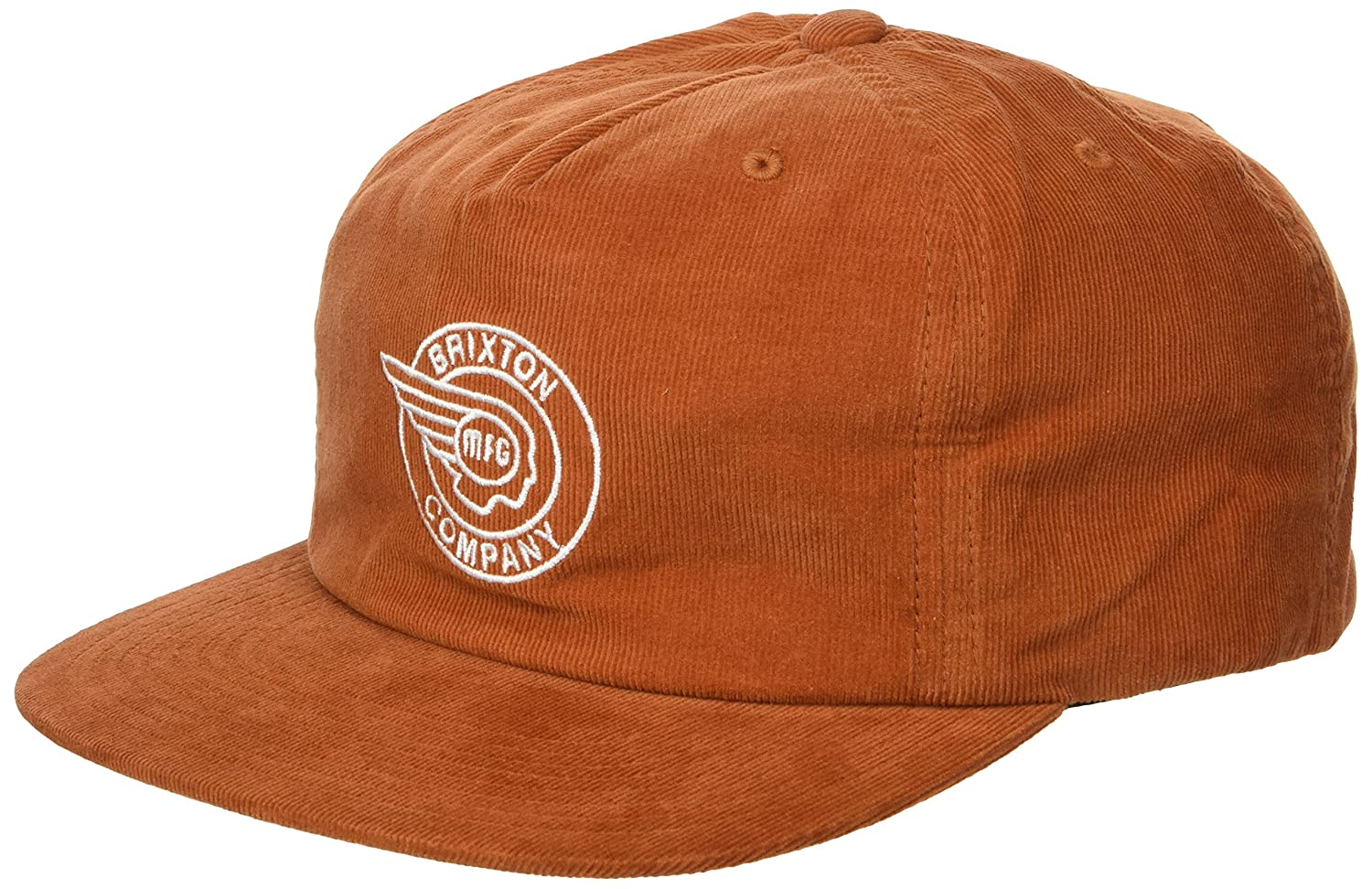 Brixton Men's Mercury High Profile Adjustable Snapback Hat Burnt Orange O/S 00881