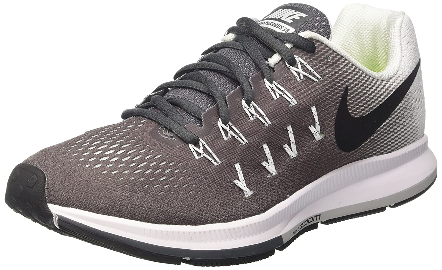 NIKE Women's Air Zoom Pegasus 33 B019DSG80K 11.5 B(M) US|Dark Grey / Black - White