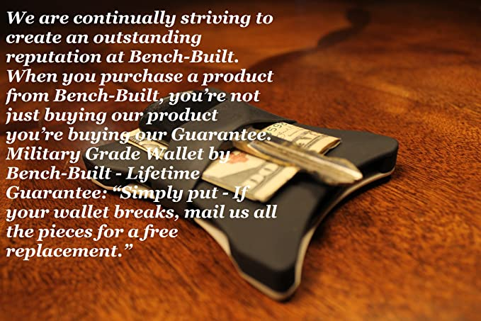 Tactical Military front pocket wallet by bench built Grade Money Clip Band Slim