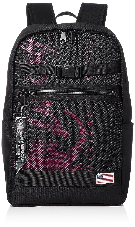 [ラーキンス]ラウンドバックパック LKLA-01 メッシュポケット B07B4QG7BP ブラック/ピンク ブラック/ピンク