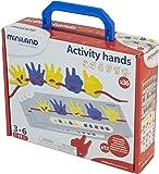 Miniland 95280 - Activity Hands, 36 piezas en maleta surtido: colores aleatorios