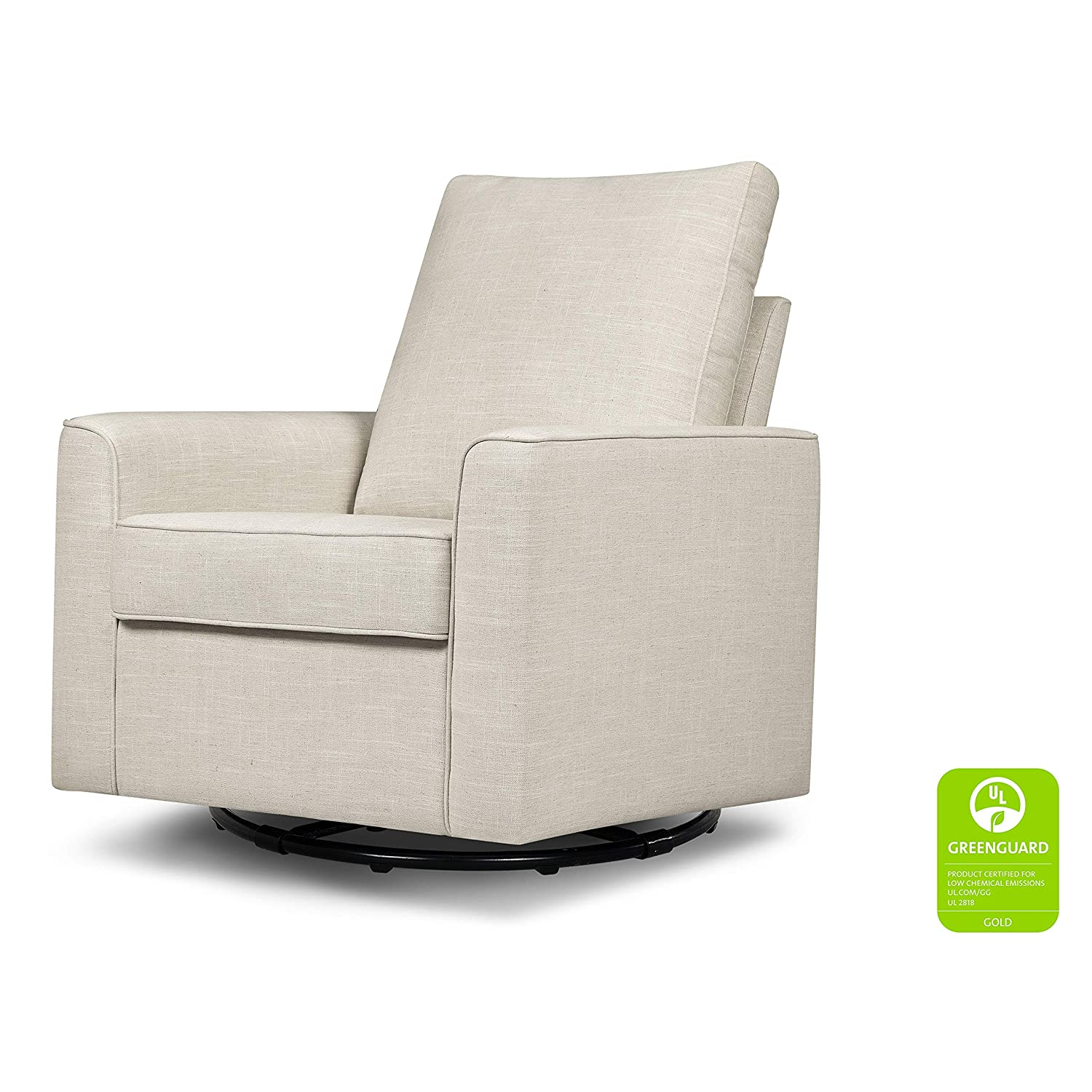 Million Dollar Baby Classic Alden Swivel Glider, White Linen