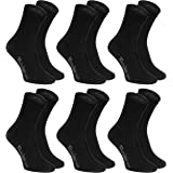 Rainbow Socks 6 o 12 pares de Calcetines de algodón, negro o blanco, producidos