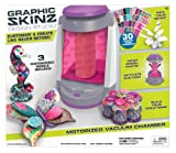 Graphic Skinz Design Studio Girl - Motorized Vacuum Chamber Adhesive Transfers Toy, Wrap Model Parts, Activate Suction - Girls' Pink Vacuum Chamber - 13 x 3.8 x 15 Inches