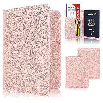 ACdream - Funda de piel con tapa para pasaporte, tarjeta de ...