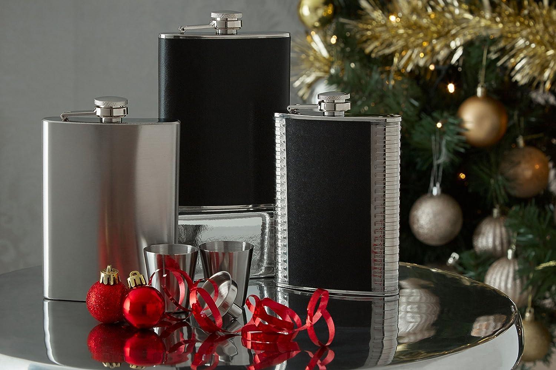Premier Housewares 8 oz Stainless Steel Hip Flask