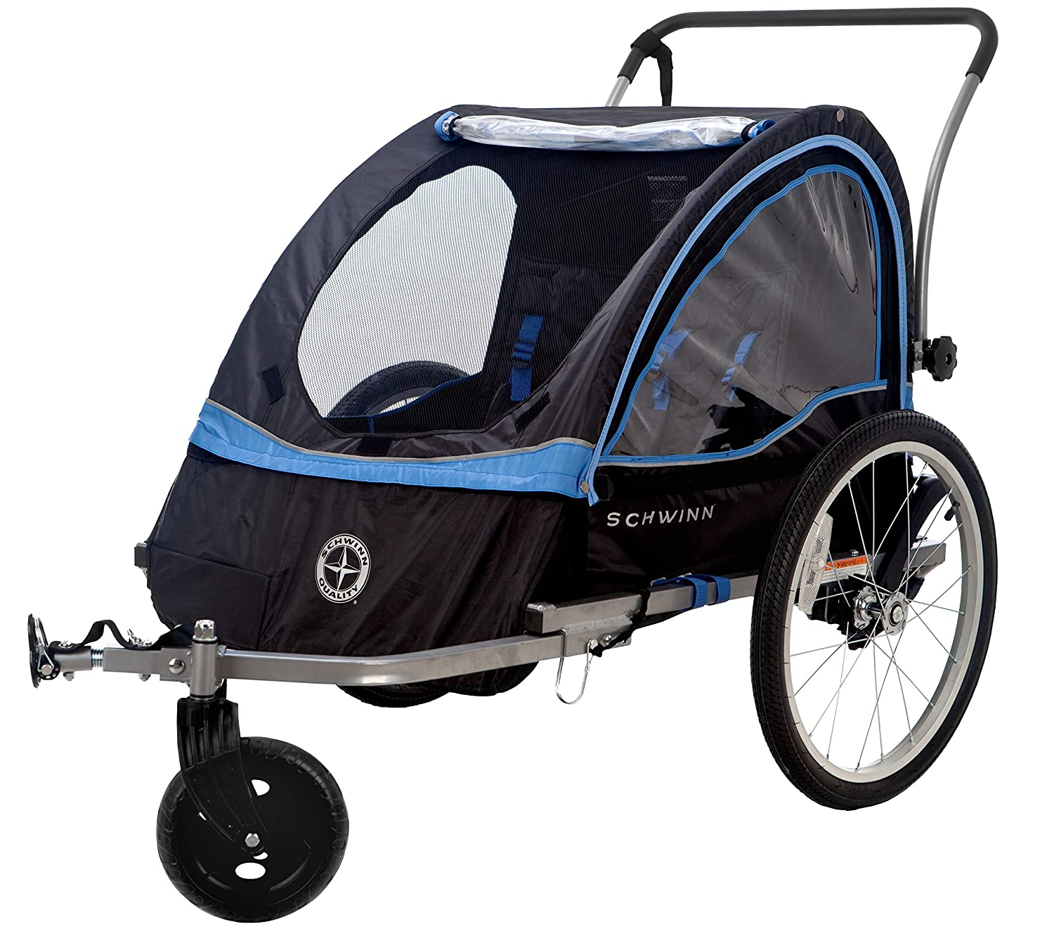 Schwinn Scout Bicycle Trailer Black Blue Child