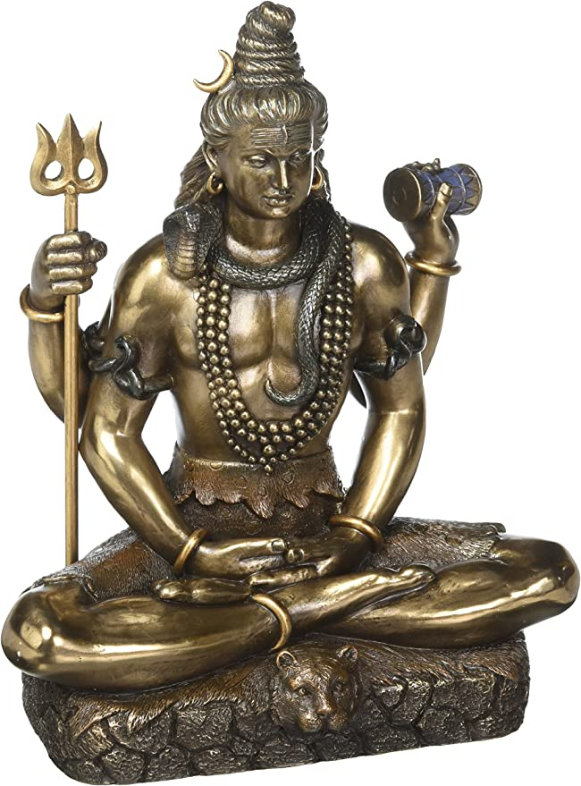 Idol Collections Lord Shiva In Dhayan Mudra Bonded Bronze 8.5