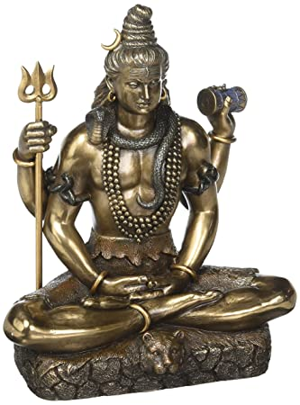 Idol Collections Lord Shiva In Dhayan Mudra Bonded Bronze 8.5"