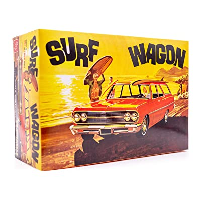 AMT 1965 Chevy Chevelle Surf Wagon - 1/25 Scale Model Kit - Buildable Vintage Vehicles for Kids and Adults: Toys & Games
