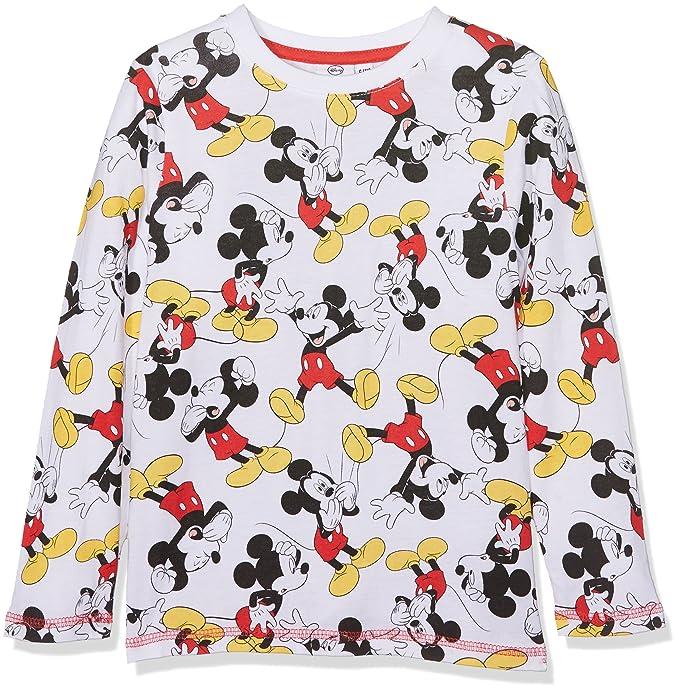 Mickey Mouse LS T-Shirt, Top de Manga Larga para Niños: Amazon.es: Ropa y accesorios