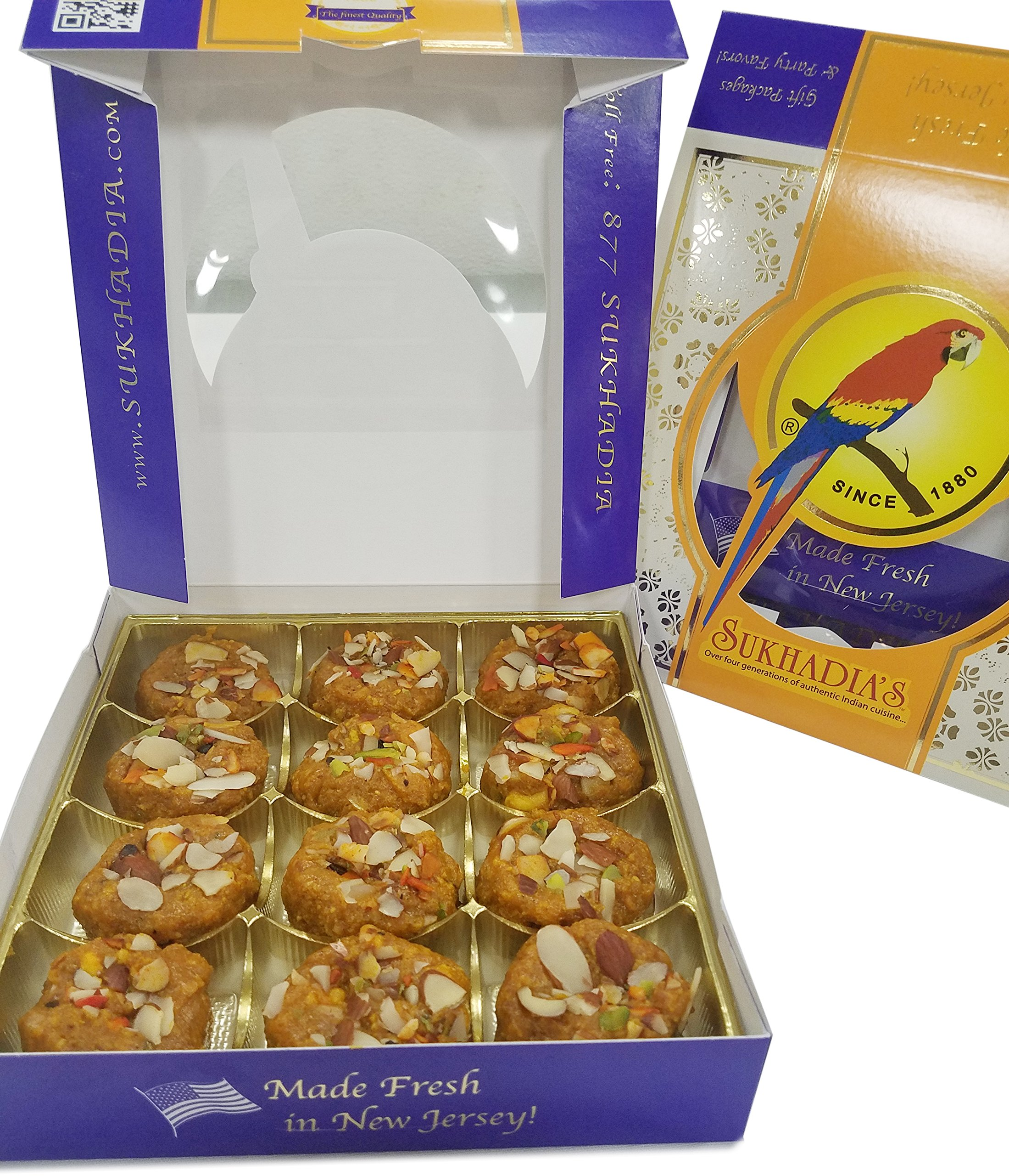 Sukhadia's Halvason Indian Sweet, 1LB Box (16oz)