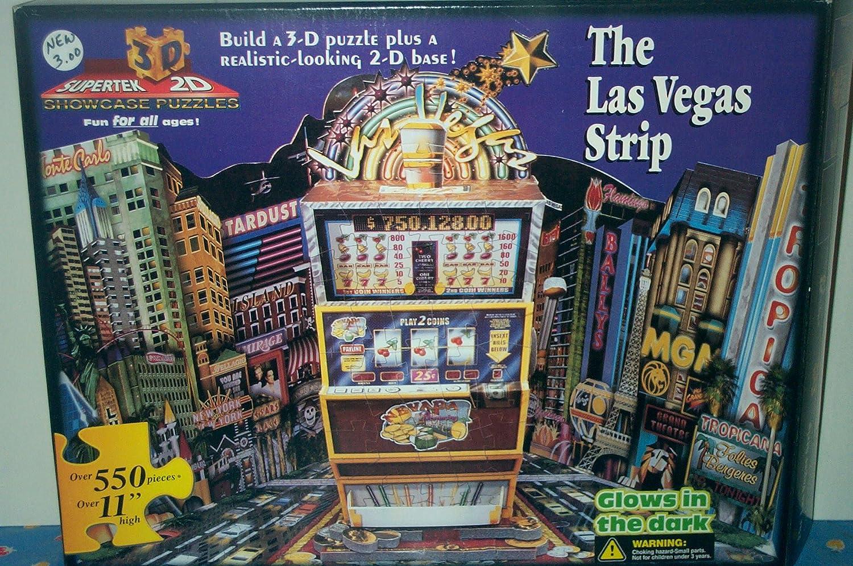 世界の The 3-D Las Vegas B0049JC1IW Strip 3-D Las & 2-D Puzzle B0049JC1IW, ヨシトミマチ:f506e5c6 --- quiltersinfo.yarnslave.com