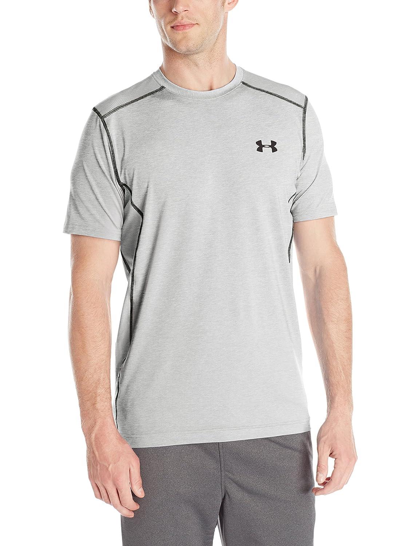 (アンダーアーマー) UNDER ARMOUR ヒットヒートギアSS(トレーニング/Tシャツ/MEN)[1257466] B00KXAEOQI 4L|グレーヘザー/ブラック グレーヘザー/ブラック 4L