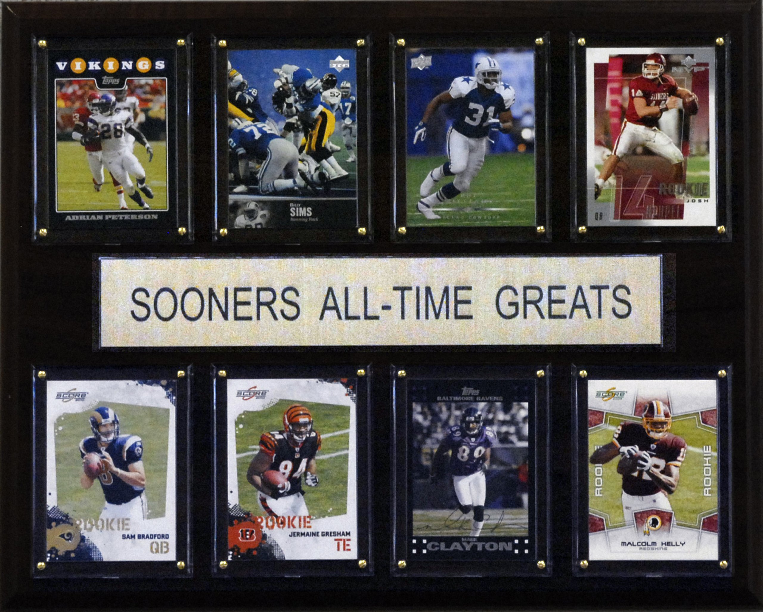 NCAA Football Oklahoma Sooners All-Time Greats Plaque