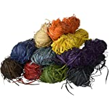 Creation Station 500 g  10 x  50 g Raffia , 10 Assorted Colours