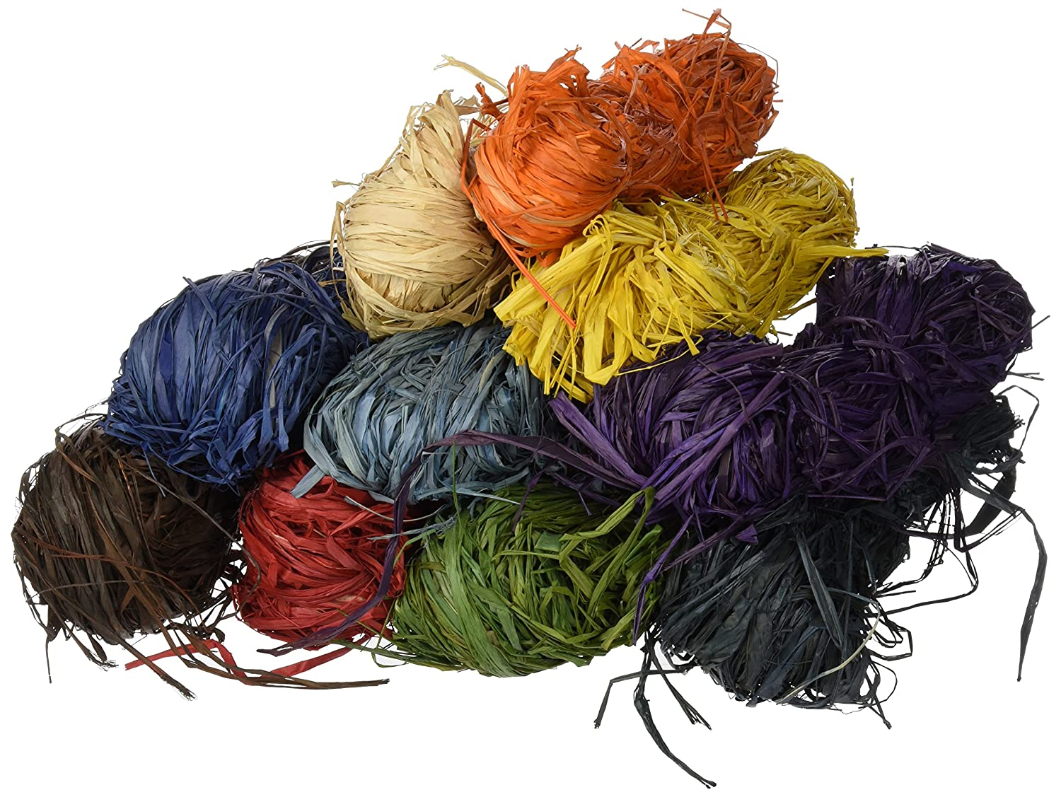 Creation Station - Raffia, 10 matasse da 50 g l'una, colori assortiti 10 matasse da 50 g l' una Artstraws CT3621