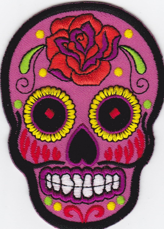 Mexican Sugar Skull Aufn/äher B/ügelbild Aufb/ügler Iron on Patches Applikation