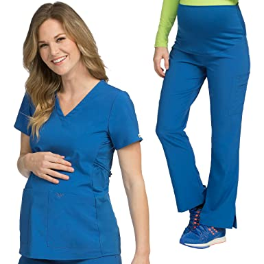 b12968bf85d Amazon.com: Med Couture Maternity Scrub Top & Maternity Scrub Pant ...