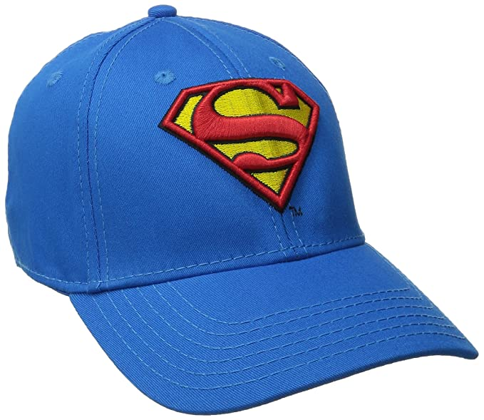 Amazon.com  Superman Men s Logo Curved Brim Baseball Cap 2f13e61de79