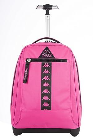 Big Trolley Kappa - Logo - Mochila con Ruedas y Correas de Hombro ocultables- Rosa 31Lt: Amazon.es: Equipaje