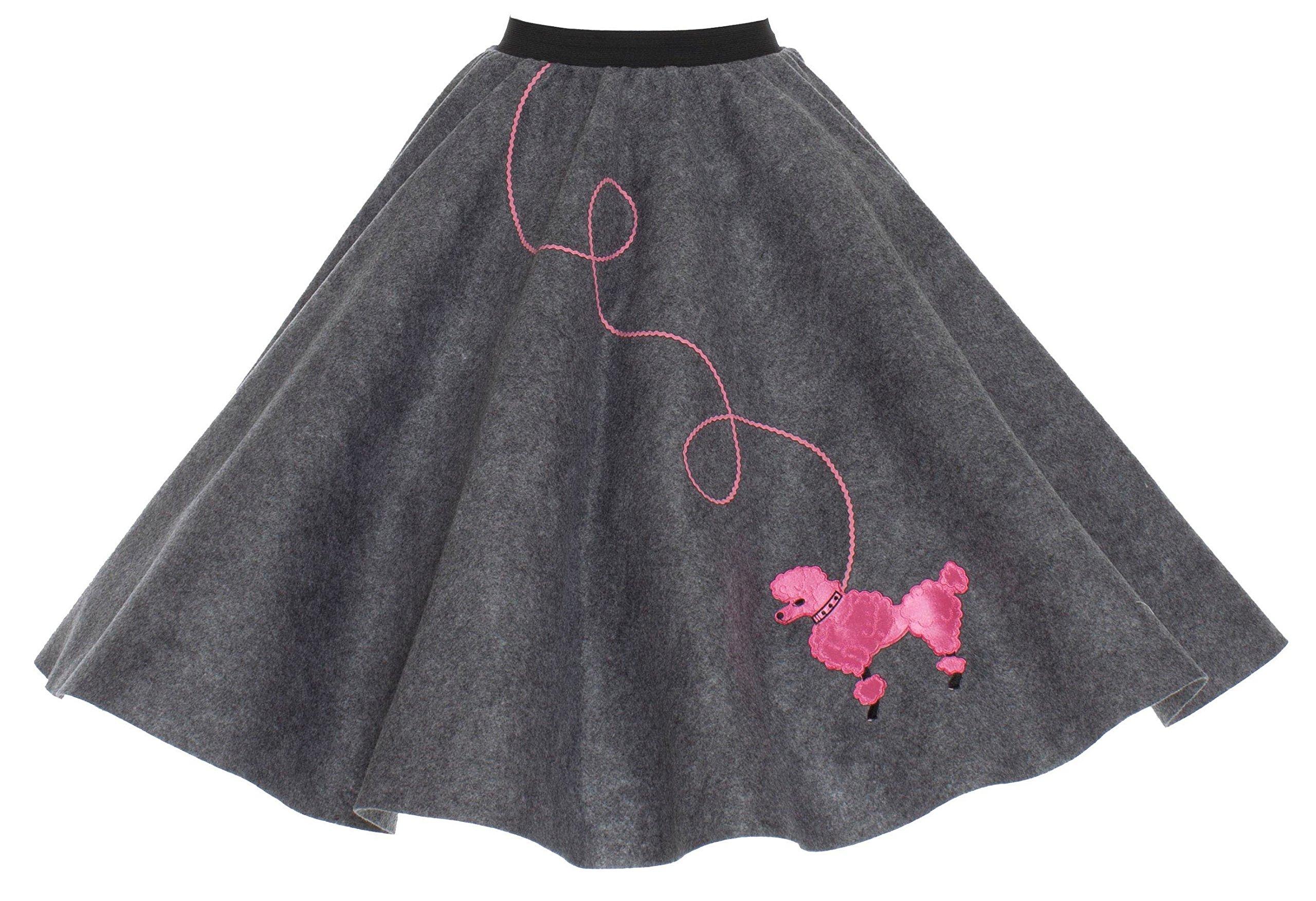 Hip Hop 50s Shop Adult Poodle Skirt Grey M/L
