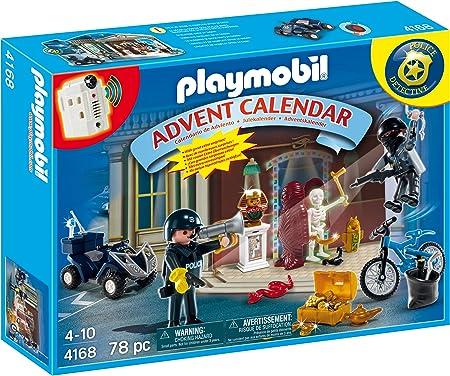 PLAYMOBIL - Calendario de Navidad Policías y Ladrones (4168): Amazon.es: Juguetes y juegos