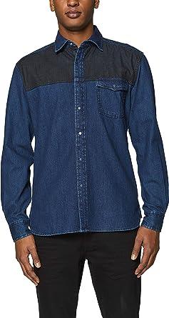 edc by Esprit 019cc2f007 Camisa Vaquera, Azul (Blue Dark Wash ...