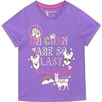 Emoji Camiseta de Manga Corta para niñas Llama