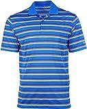 Nike Men's Golf Teck Vent Stripe Polo Shirt-Photo Blue/White-Small